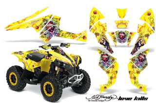 AMR RACING ATV STICKER KIT OFF ROAD QUAD DECAL WRAP CANAM RENEGADE ED