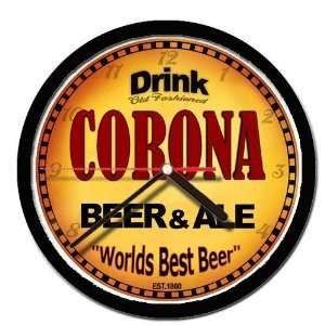 CORONA beer and ale cerveza wall clock