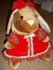 Toys R US 14 tall Velveteen Rabbit Girl Bunny Plush Doll 80s