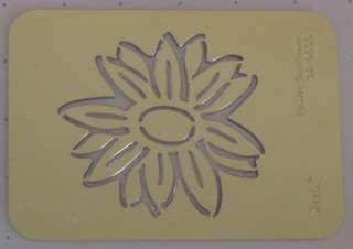 new SIZZIX EMBOSSING FOLDER FLOWER SUNFLOWER 38 9533
