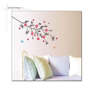 FLOWERING TREE Mural Art Removable Wall Sticker Decals