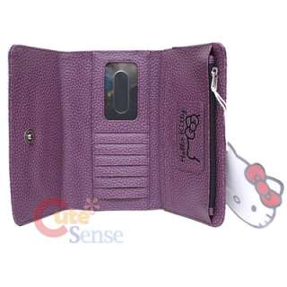 Sanrio Hello Kitty Grape Embossed Faux Leather Wallet by Purple wallet