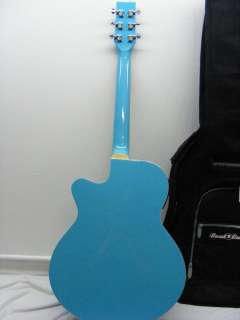 JB Player JBEA15 Bloom Acoustic Electric Single Cutaway Guitar   Blue