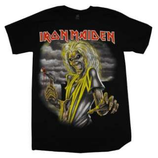 shirt featuring the album cover to the Iron Maiden   Killers album