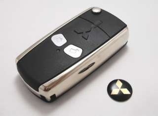 Remote Flip Folding Key Shell Case Pad Cover For Mitsubishi Lancer EVO