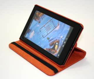 Kindle Fire 360° Rotating Leather Case Cover w/ Swivel Stand