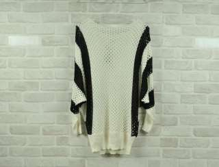 New Korea Women batty sleeves Hollow Jumper knit Sweater LM4