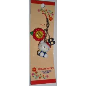 Hello Kitty Cell Phone Charm, Hello Kitty, B, Flower