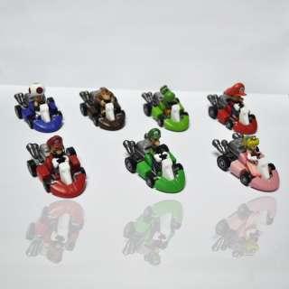 Mario Bros 2Lot 7 MARIO Kart Car Figure toy