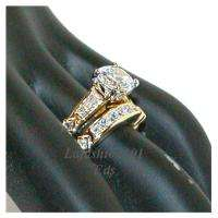 Best Selling Gold Plated Wedding 2 RINGS SET sz 9