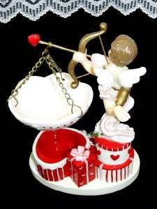 Vintage Cupid Candle Holder Home Interiors MIB Valentine Day Gift VHTF