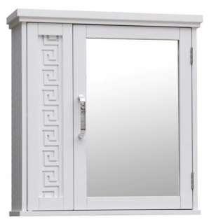 New Greek Key Medicine Cabinet With Mirror   White