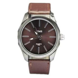 Big Dial Fashion Quartz Wrist Watch Leatheroid Style Watches Men