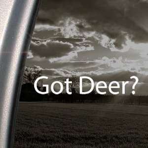 Got Deer? Decal Hunting Bow Shotgun Window Sticker