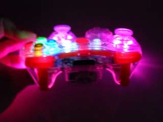 PINK LED XBOX 360 MODDED CONTROLLER RAPID FIRE COD MOD MW2 MW3 BLACK