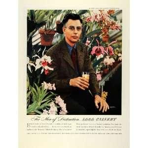 Flowers Lord Whiskey John Lager   Original Print Ad