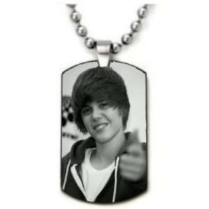 Justin Bieber Style 2 Dogtag Pendant Necklace w/Chain and