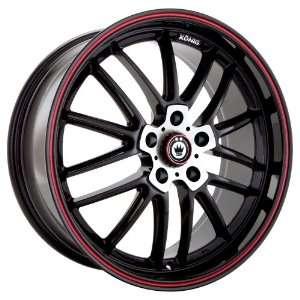 17x8 Konig Again5 (Gloss Black w/ Red Stripe) Wheels/Rims
