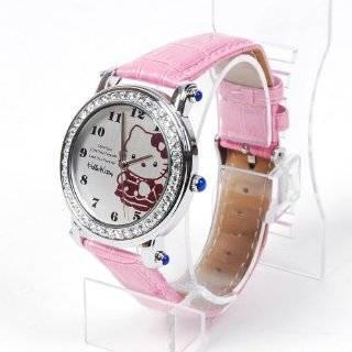 Hello Kitty Wristwatch Wrist Watch Rhinestones by Hello Kitty