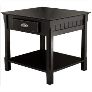 Winsome Timber Solid Wood /Nightstand Black End Table 021713201249