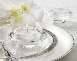 Crystal Diamond Shaped Tea Light Holder Wedding Favor