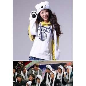 Super Junior SuJu Bear Hat and Mittens