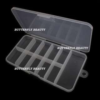 Empty French False Nail Art Tips Box Case Tool X08