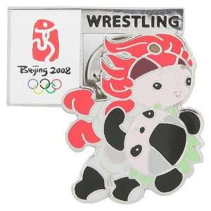 2008 Olympics Beijing Wrestling Pin Sports & Outdoors