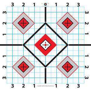 100 Yard Rifle Paper Target Great for Sighting in Scope