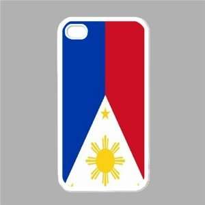 Philippines Flag White Iphone 4   Iphone 4s Case: Office