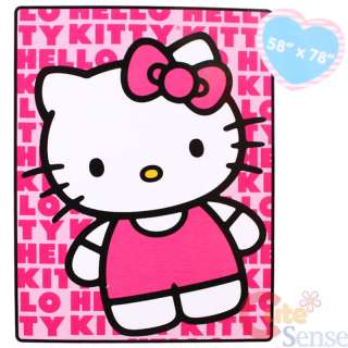 Sanrio Hello Kitty Plush Blanket Twin Microfiber 2