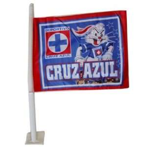 Cruz Azul Mexican Soccer Royal Blue Car Flag: Sports