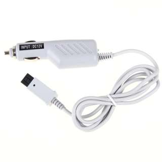 White Car Travel Charger Power Adapter for Nintendo Wii