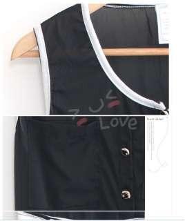 New Love Free S&H Black Cotton Womens Dress + Belt 6840