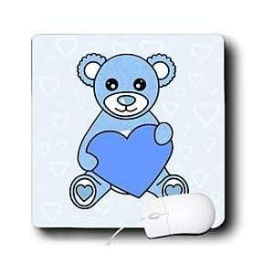 Janna Salak Designs Teddy Bears   Valentines Day Cute Blue Teddy Bear