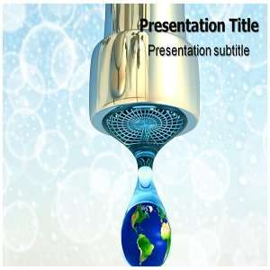 Save water PowerPoint Template   Save water PowerPoint